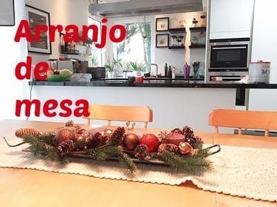 Centro de mesa de natal, faça você mesma! DIY Arranjo de natal
