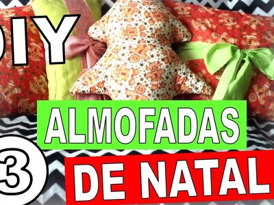 DIY   3 Christmas Cushion 3 Almofadas de Natal