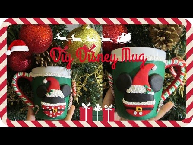 Diy Caneca Mickey e Minnie especial Natal em Fimo!!. Diy Disney MUG Polymer clay