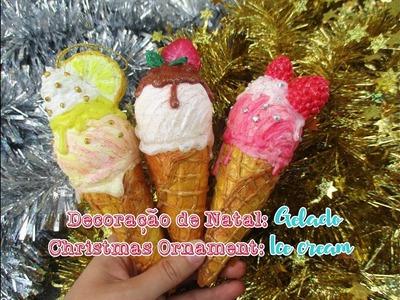 DIY: Decoração de Natal de Gelado | Ice cream Christmas Ornament