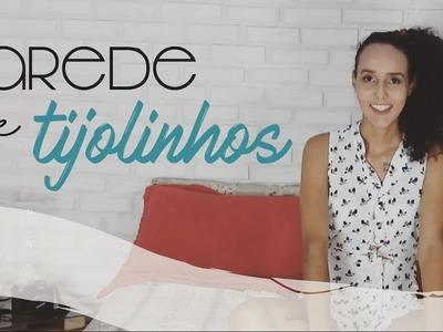 DIY Parede de tijolinhos com isopor | Pricilla Calaça
