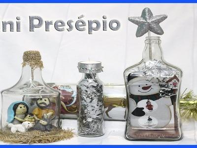 Mini Presépio Dentro da Garrafa. DIY, Decoração de natal.