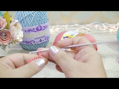 Ponto alto em crochet