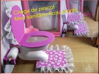 Como fazer um vaso sanitário para bonecas Barbie, Monster high ,etc.