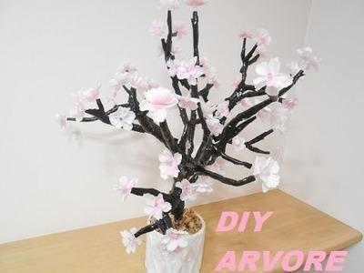 DIY: Árvore com flores de luzes   Imaginariun  Inspired #VEDA 24 by ANGELA INOUI