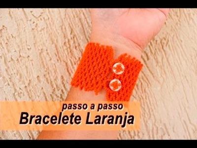 NM Bijoux - Bracelete Laranja - passo a passo