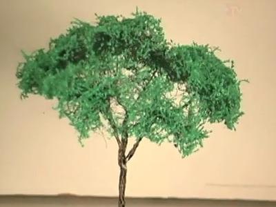 Vegetação em Miniaturas: Temática Árvores de Palha de Aço
