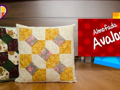Almofadas em patchwork Avalon - Maria Adna Ateliê - Cursos e aulas de patchwork