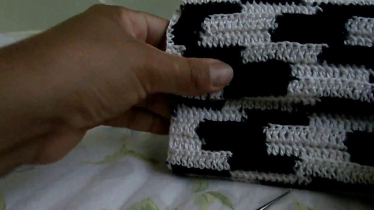 Bolsa em crochê e caixa de leite