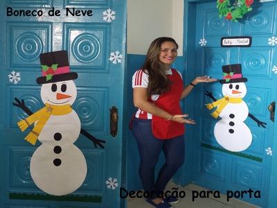Boneco de neve para decoração de porta. .