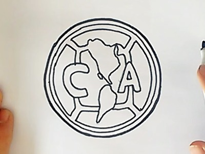Como desenhar o escudo do Club América (CF) - How to Draw the Club América Logo (CF)