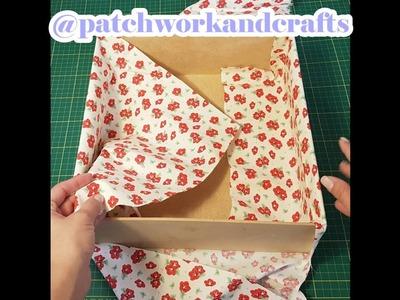 Como forrar uma caixa com tecido?
