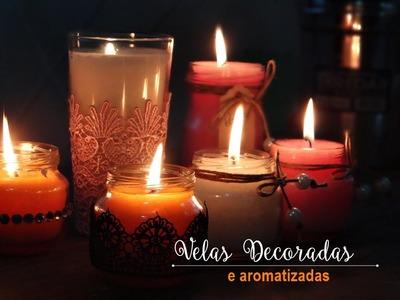 DIY: Velas Decoradas e Aromatizadas |Reutilizando vidros de papinhas |Por Priscila Castro