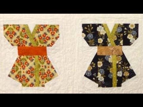 Panô em patchwork Os quimonos -Maria Adna Ateliê - Cursos e aulas de patchwork - Patchwork