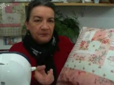 Patchwork Ao Vivo #19: almofada de patchwork em estilo cottage