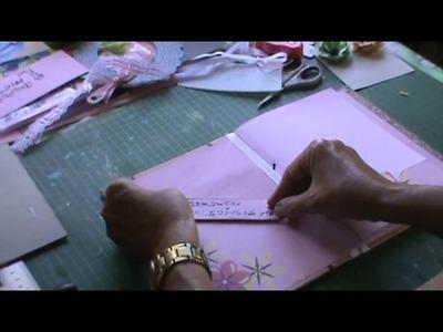 SCRAPBOOKING: Caderno de assinaturas 15 anos tutorial parte 3