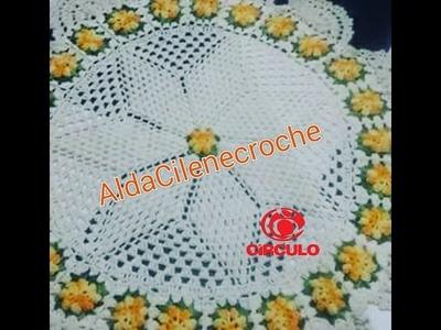 Toalha de Mesa com Flor Pipoca