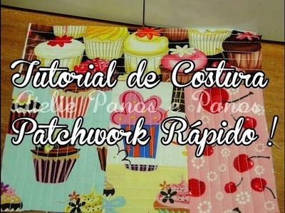 Tutorial de Costura- Patchwork rápido ( Quilt as you go! )