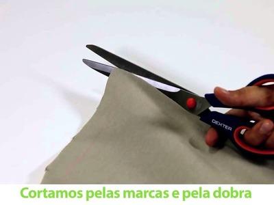 Como fazer um puff com tecidos