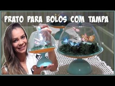 DIY |PRATO PARA BOLO COM TAMPA | #CARADELOJA