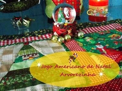 Especial de Natal - Faça um Jogo Americano Arvorezinha usando basicamente faixas