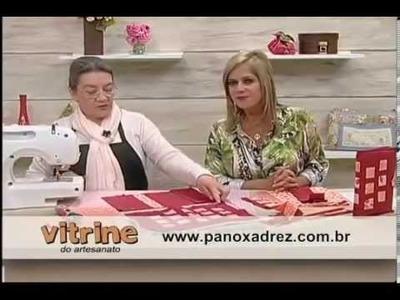 Tia Lili na TV: capa para agenda com patchwork