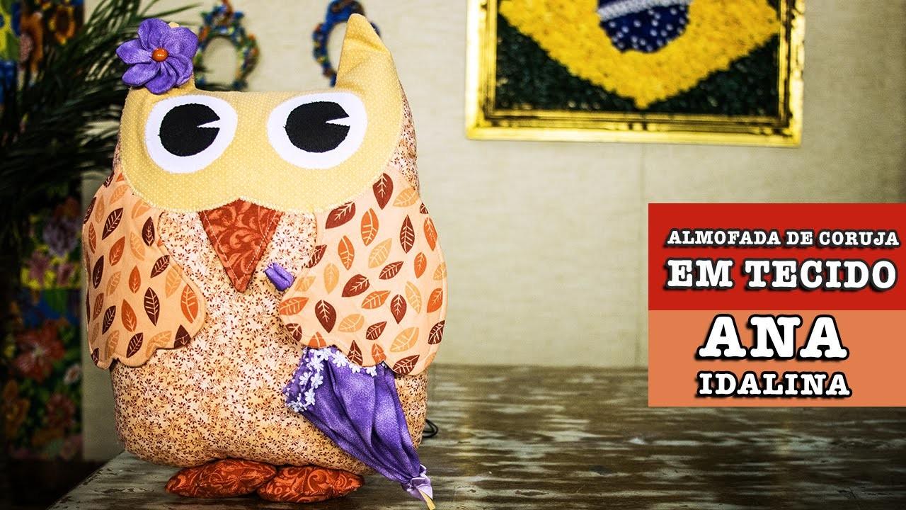 23.10.2014 - Almofada de coruja em tecido (Ana Idalina)