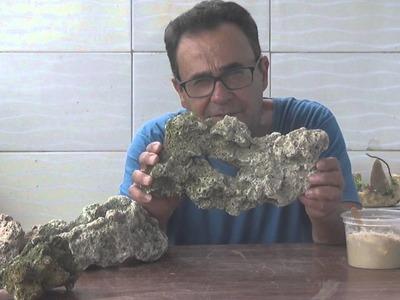 Como fazer Massa (Cola) p. colar Pedras Naturais e Artificiais