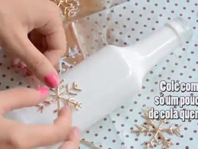 DIY: Decoração com Garrafas | Fácil e Barato | 2 tipos de decoração | #FevereiroTodoDia