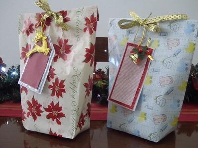 Embrulho para presentes de Natal | Má Patchwork