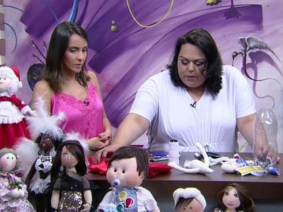 Mulher.com - 15.12.2015 - Boneca mamãe noel de garrafa pet - Luciane Valeria PT1