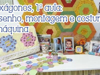 """Patchwork Ao Vivo #62: hexágonos - """"Flores do Jardim da Vovó"""""""