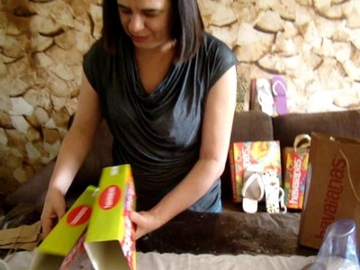 Sacola Com caixa de Havaianas - Reciclagem