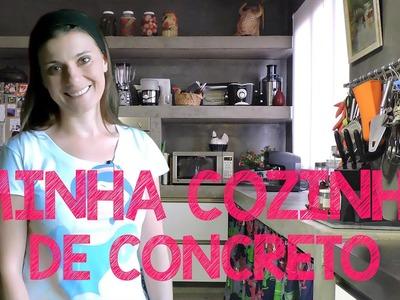 A COZINHA DE CONCRETO DA ERIKA - TOUR MOSTRANDO A REFORMA E DECORAÇÃO