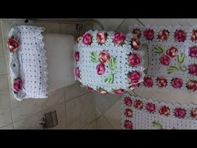 Capa da Caixa Acoplada - Jogo de Banheiro Florido com Cristina Coelho Alves