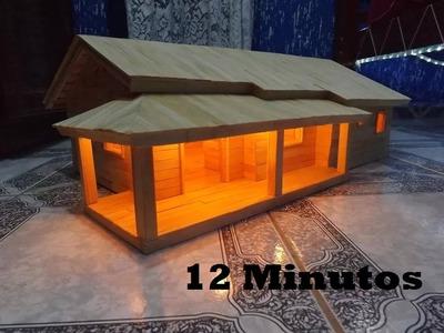 Casa Com Palitos De Picolé (12 minutos)