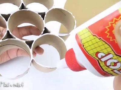 Como fazer um porta jóias ou organizador com rolos de papel higiênico