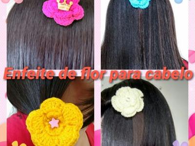 Enfeite de flor para cabelo