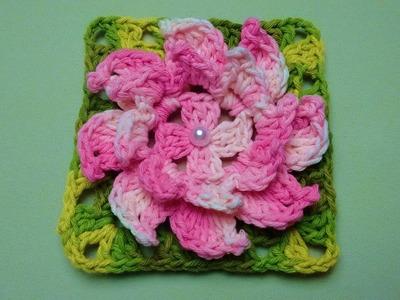 Flor de Crochê Confecção Rapida - Wilma Crochê