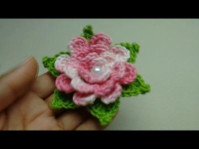 Flor de Crochê Enrolada Vídeo Novo no Canal Crochê para Aplicação