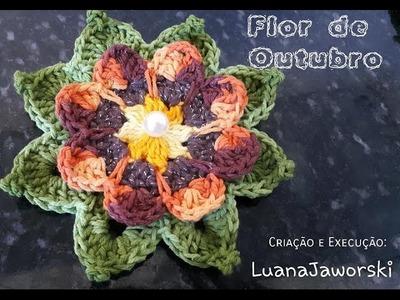 Flor de Outubro Crochê