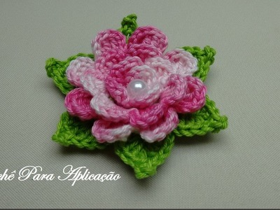 Flor em Crochê Enrolada Linda e Fácil - Crochê Para Aplicação