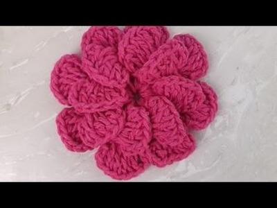 Flor em Crochê para ser aplicadas em jogos de banheiro e outros tapetes