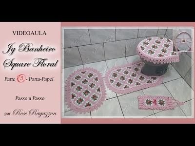 Jg Banheiro Square Floral - Parte 5 - Porta-papel