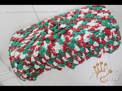 Jogo de Banheiro em Crochê Natal - Capa Caixa Acoplada