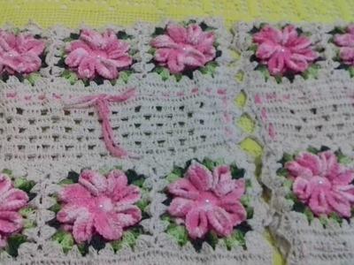 Jogo dos encostos das cadeiras em Crochê completo. com Cristina Coelho Alves