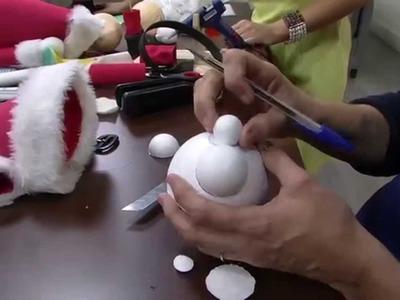 Mulher.com 05.11.2014 - Papai Noel em EVA por Rosemary Ansante - Parte 2