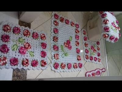 Video dos meus trabalhos  finalizados  Jogo de Banheiro Florido com Cristina Coelho Alves