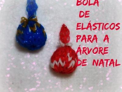 Bolas de elásticos para árvore de  natal  .