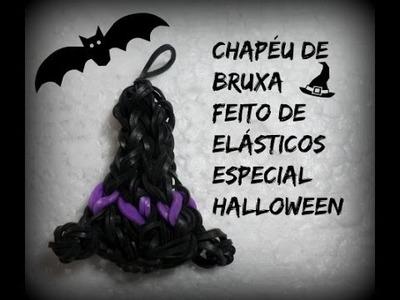 Chapeu de bruxa,feito de elásticos especial halloween